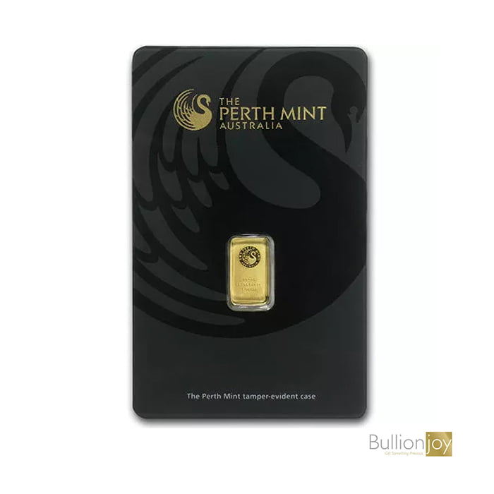 1 Gram Pure Gold Bar by The Perth Mint backl