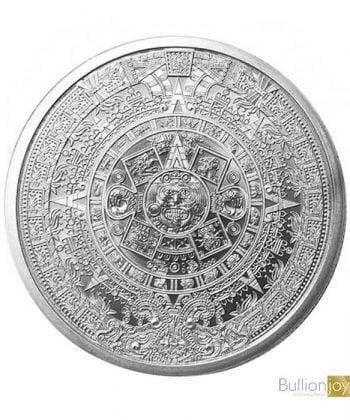1 oz Silver Aztec Calendar