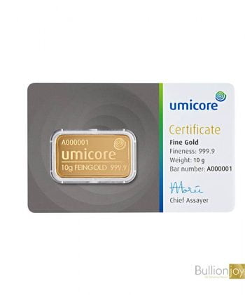 10 Gram Umicore Gold Bar
