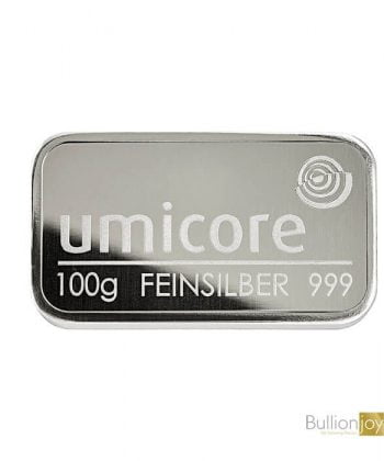 100g Umicore Silver Bar