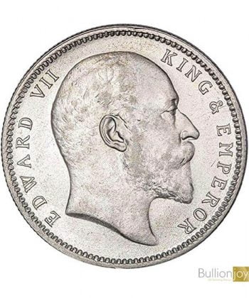 1903 King Edward VII India One Rupee Silver Coin - Collectors Coin