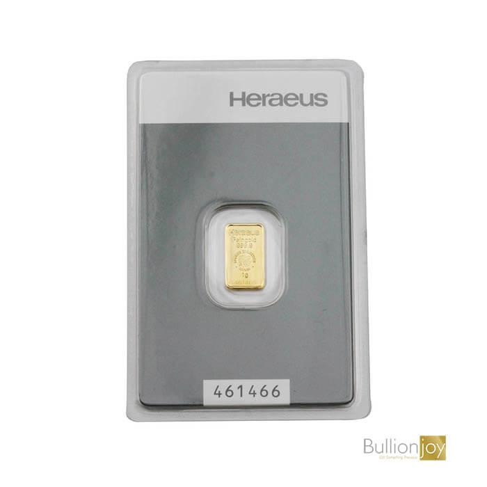 1g Gold Bar Heraeus