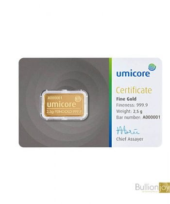 2.5 Gram Umicore Gold Bar