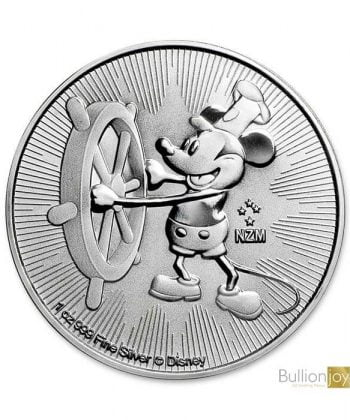 2017 1 oz Disney Steamboat Willie Silver Coin