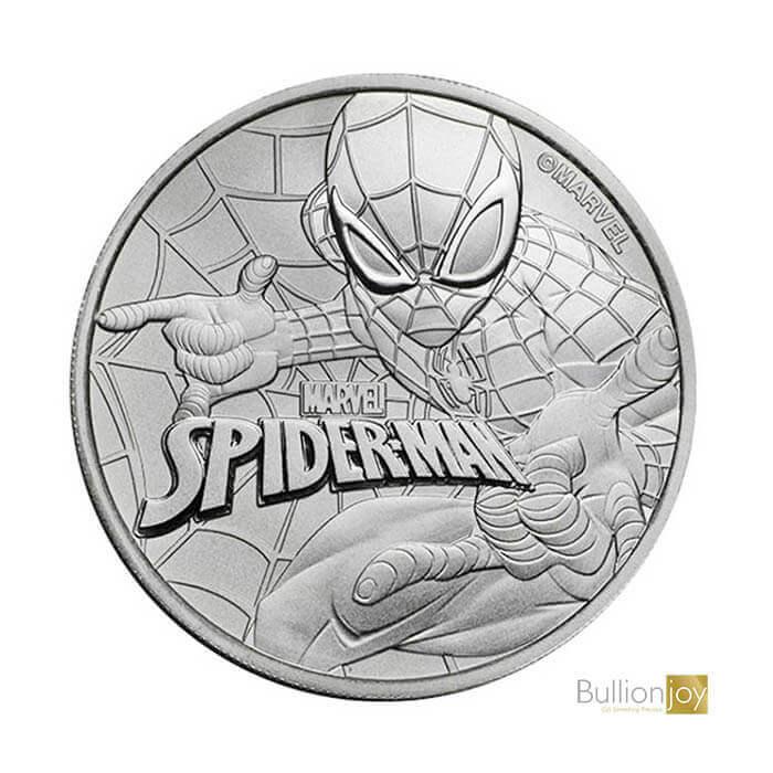 2017 1 oz Marvel Spiderman Silver Coin