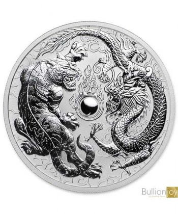 2018 1 oz Australian Dragon and Tiger Silver Coin