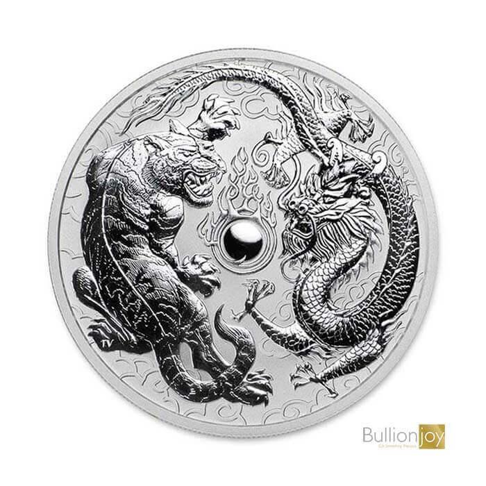 2018 1 oz Australian Dragon and Tiger Silver Coin