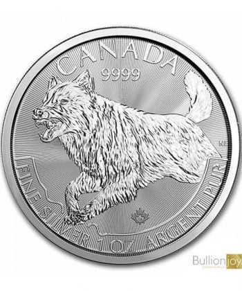 2018 1 oz Canadian Wolf Silver Coin