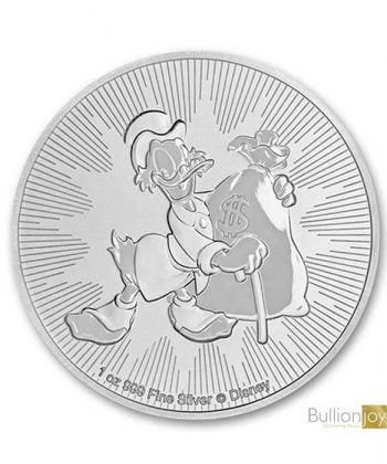 2018 1 oz Disney Scrooge McDuck Silver Coin