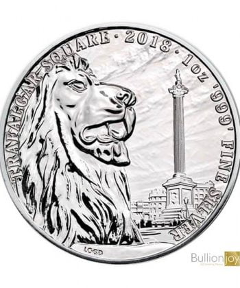 2018 1 oz Landmarks of Britain Trafalgar Square Silver Coin