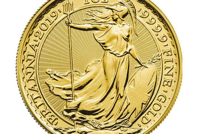 2019 1 oz Britannia Pure 999.9 Gold Coin