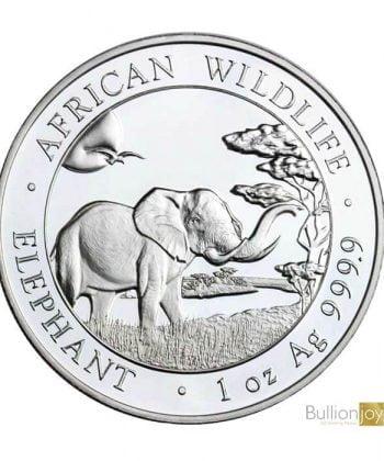 2019 1 oz Somalian Elephant Silver Coin