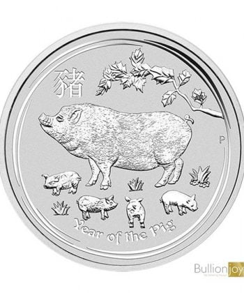 2019 2 oz Australian Lunar Year of the Pig Silver Coin