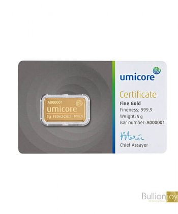 5 Gram Umicore Gold Bar