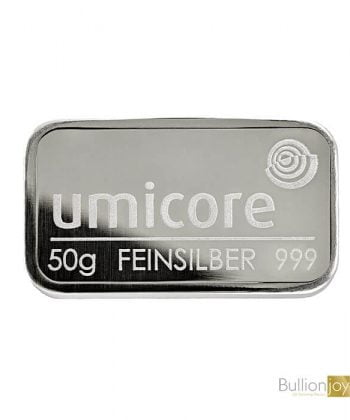 50g Umicore Silver Bar