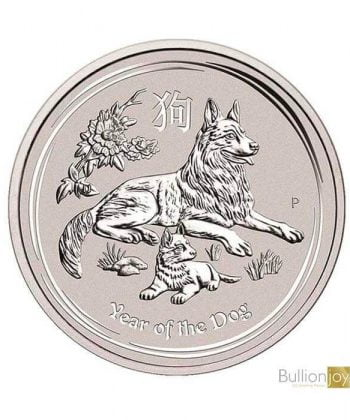 2018 1 oz Australian Lunar Year of the Dog Silver Coin