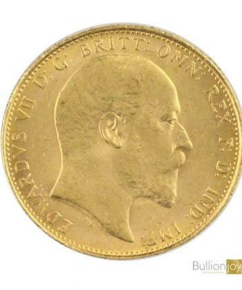 Full Gold Sovereign KING DEWARD