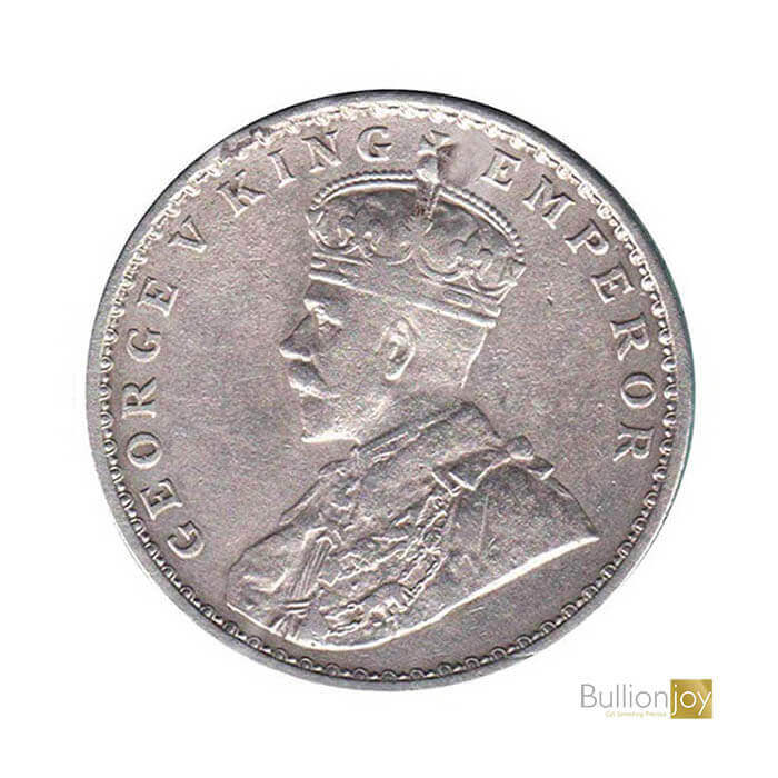 King George V India One Rupee Original Silver Coin – Collectors Coin