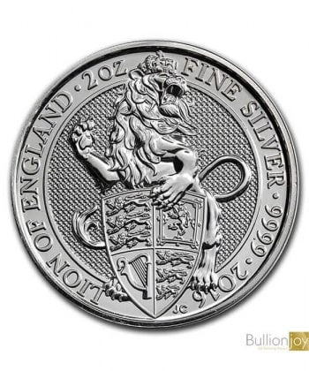 2016 2 oz Great Britain Silver Queen's Beasts Silver Coin Bullionjoy