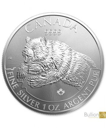 silver 2019 Grizzly Bear coin