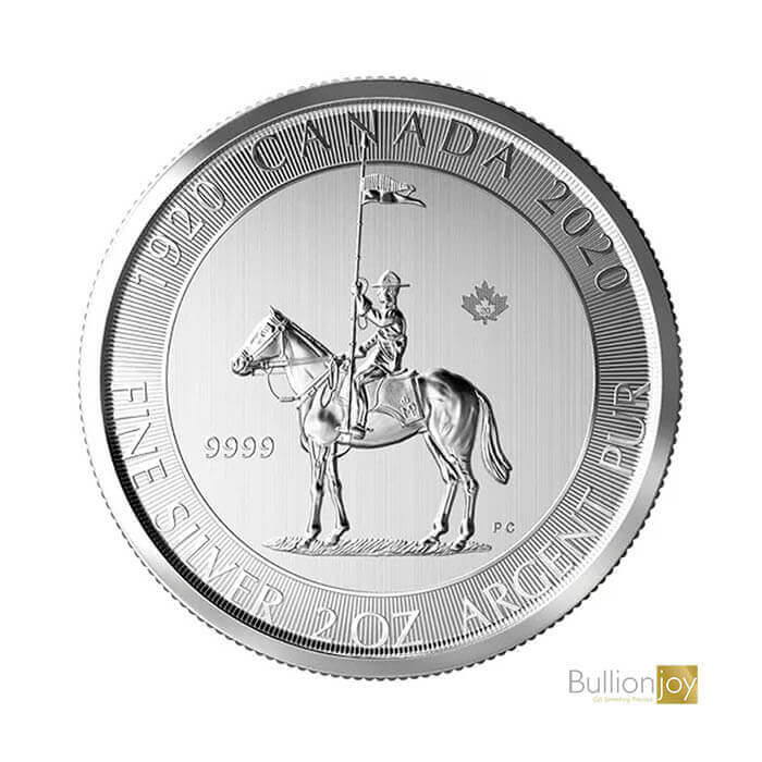 2020 2 oz 100th Anniversary Royal Canadian Mounted Police Silver Coin
