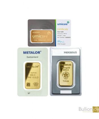 Best Value 1oz Pure Gold Bar
