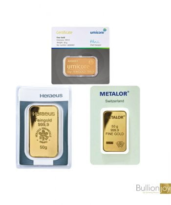 Best Value 50 Grams Pure Gold Bar