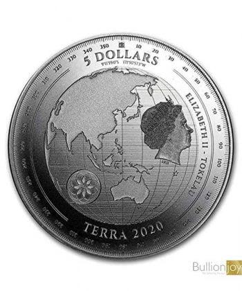 2020 Tokelau 1 oz Silver coin $5 Terra