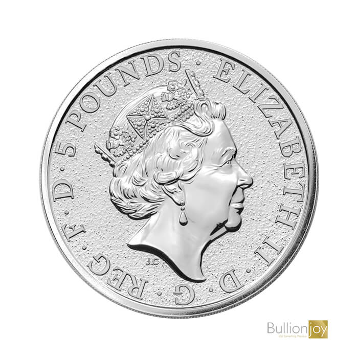 2020 2 oz Queen's Beasts The White Horse Silver Bullion BJ