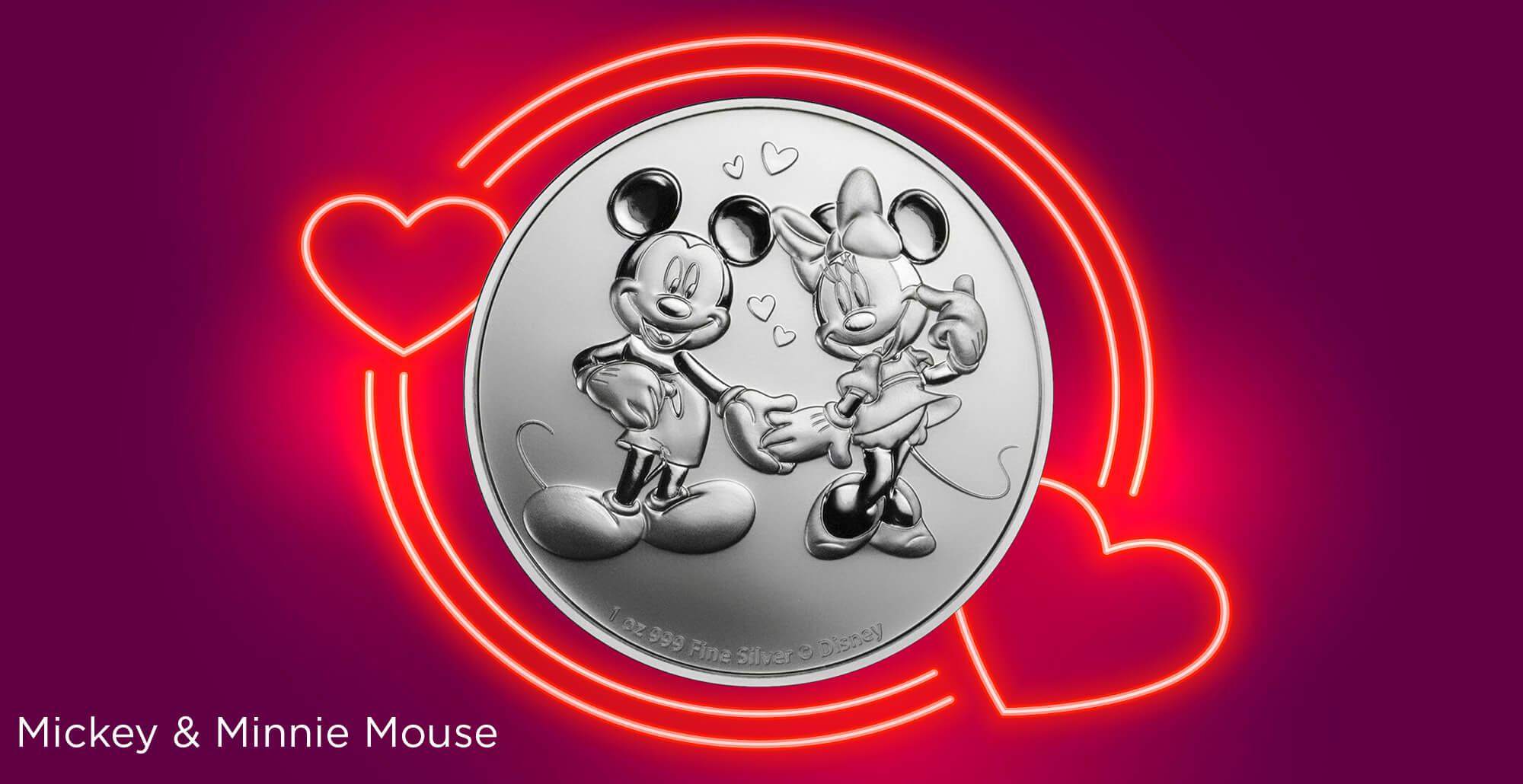 2020 1oz Mickey & Minnie Mouse Disney Silver Bullion Coin