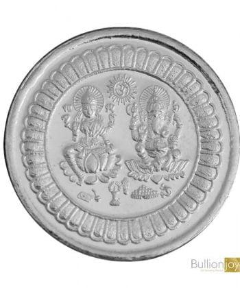10 Gram Lakshmi Ganesh Round Silver Coin