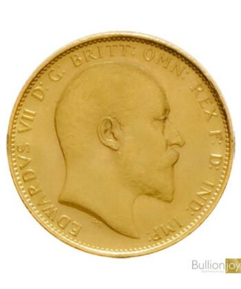 1908 Gold Sovereign King Edward VII M Coin