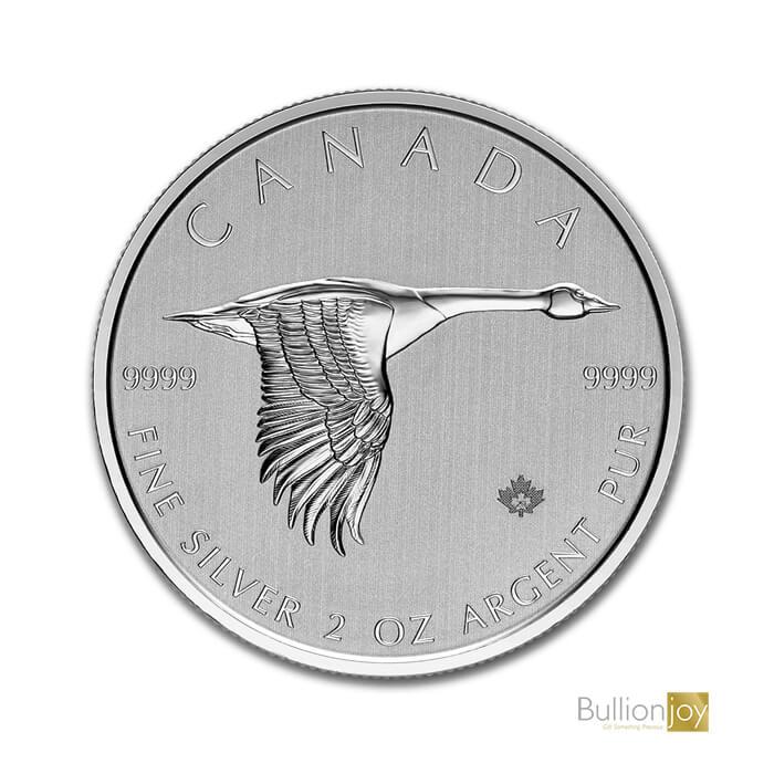 2020 2 oz Canada $10 Silver Canadian Goose