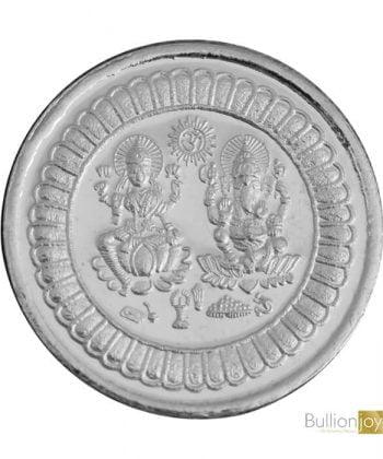 Laxmi Ganesh Pure 999 Silver Coin Diwali Silver Coin