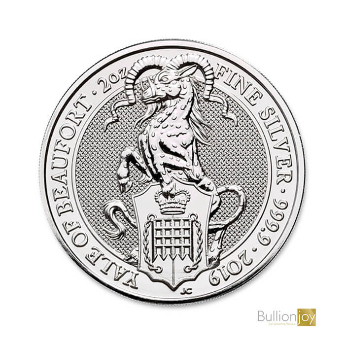 2019 2oz Queen's Beasts Yale of Beaufort Silver Coin
