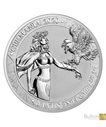 2020 1oz Lady Germania 5 Mark Silver Coin