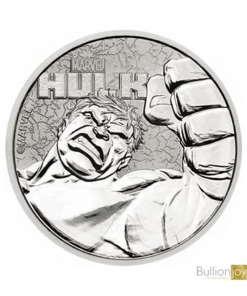 2019 1oz Hulk Marvel Series Silver Coin