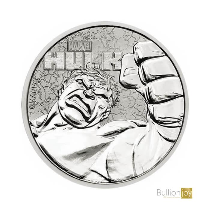 2019 1oz Hulk Marvel Series Silver Coin