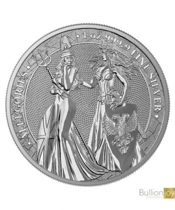 2019 1oz Allegories Britannia & Germania Silver Coin