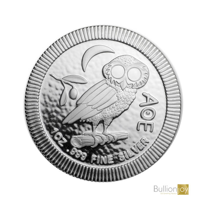 2019 1oz Athenian Owl Stackable Silver Coin