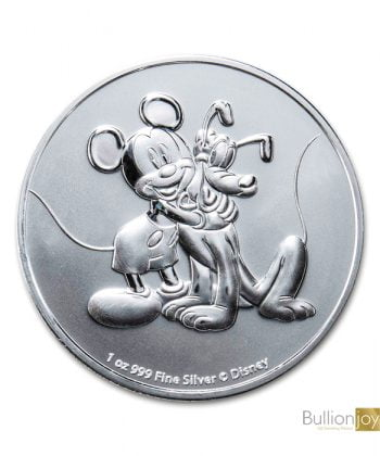 2020 1oz Mickey & Pluto Disney Silver Bullion Coin Bullionjoy