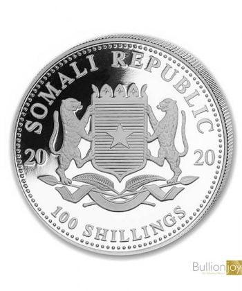 2020 1oz Somalia Leopard Silver Coin
