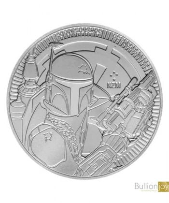 2020 1 oz Star Wars Boba Fett Silver Coin