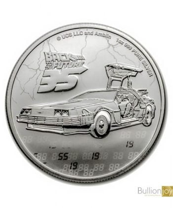 2020 1oz Back to the Future 35th Anniversary Silver Coin