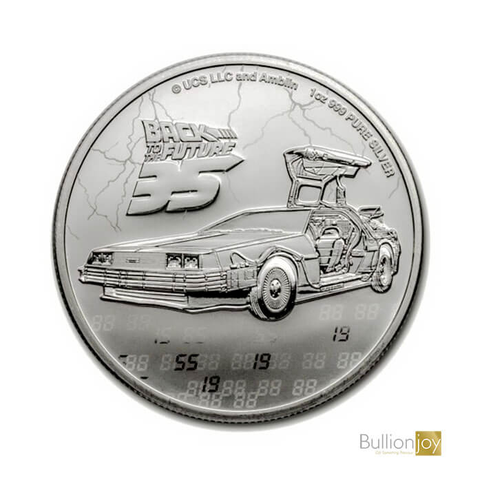 2020 1oz Back to the Future 35th Anniversary Silver Coin