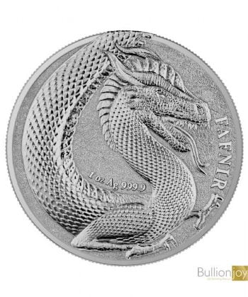 2020 1oz Fafnir Geminus Germania Beasts Silver Coin
