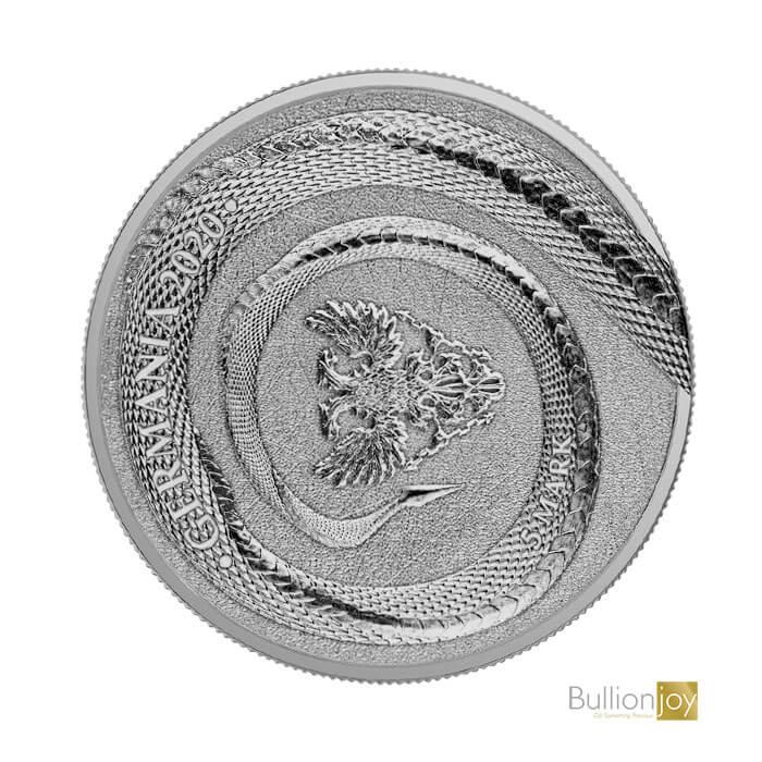 2020 1oz Fafnir Geminus Germania Beasts Silver Coin