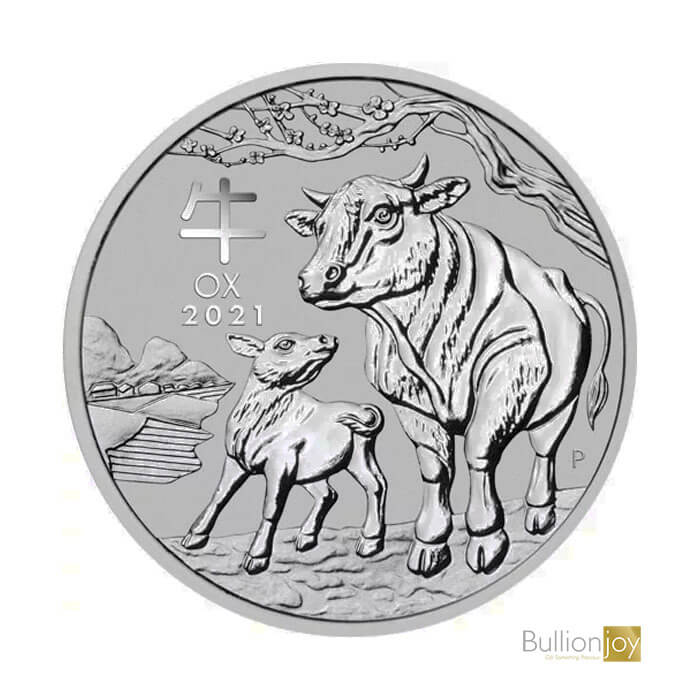 2021 1oz Australian Lunar Ox Silver Coin