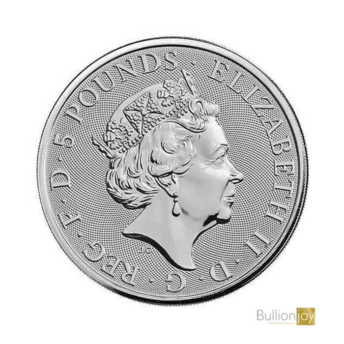 2021 2oz Queen's Beast White Greyhound Silver Coin