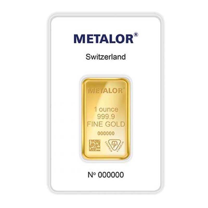 1oz Best Value Metalor Gold Bar, UK